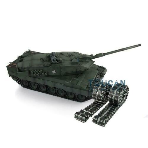 Henglong 1/16 échelle vert 6.0 génération Combat infrarouge Leopard2A6 RC Tank 3889 baril recul métal piste TH12766