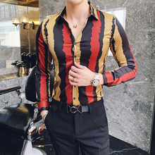 MOTUWETHFR Men Half Sleeve Summer 2019 Streetwear Striped Shirts Dress Slim Fit