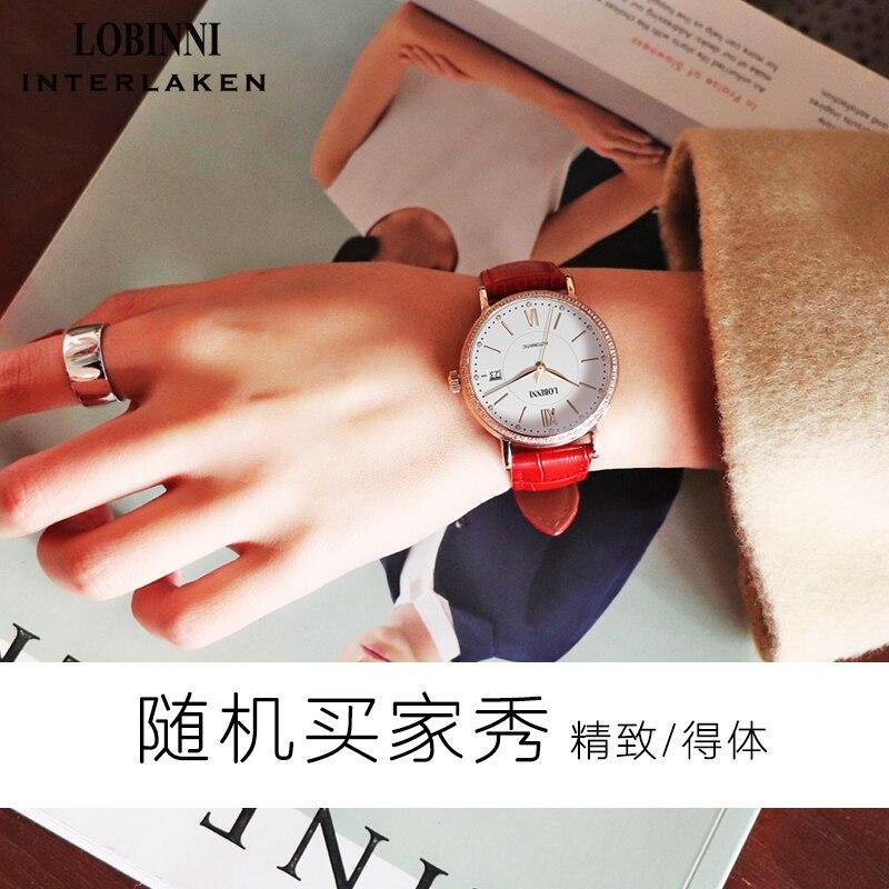 Zwitserland LOBINNI Horloge Vrouwen Luxe Merk Miyota Automatische Mechanische Horloges Saffier Waterdicht Dames Horloges L12025-in Dameshorloges van Horloges op  Groep 2