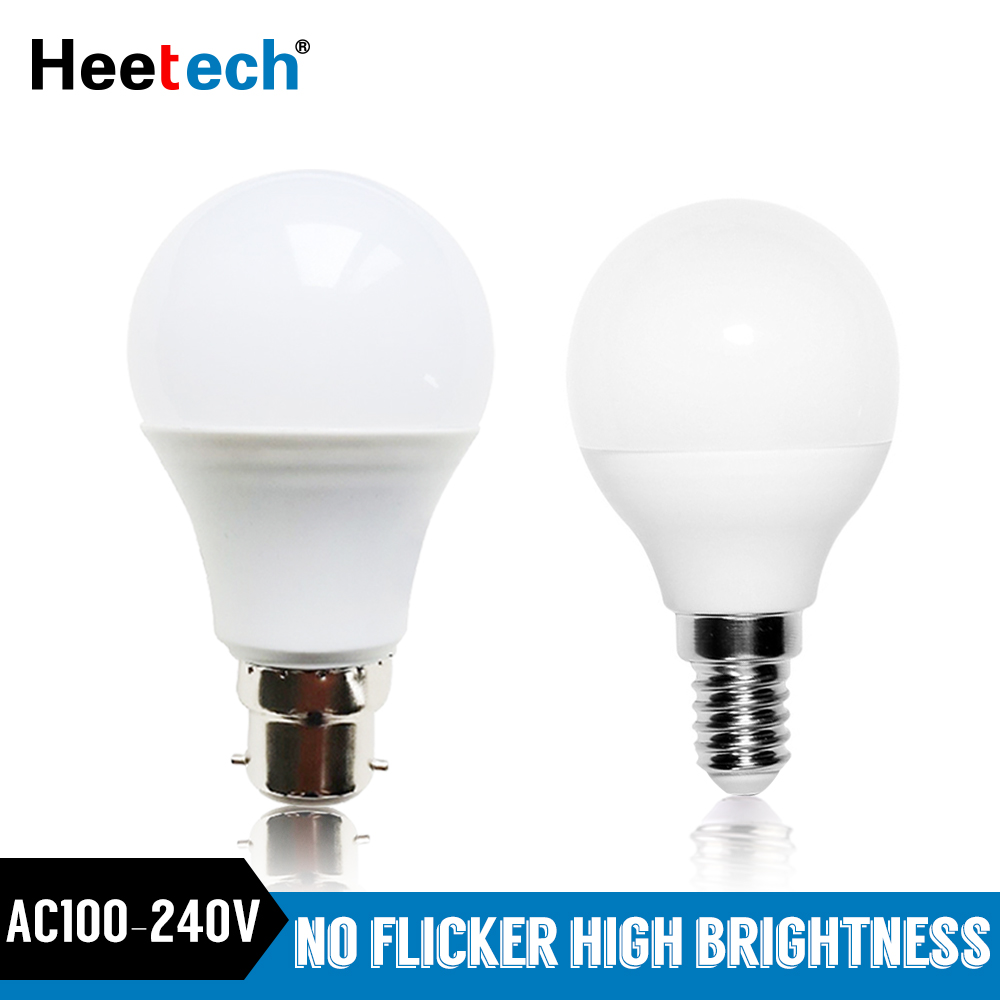Led Lamp E14 B22 LED Light Bulb 110V 220V 230V 240V LED Lampada Bombilla 18W 15W 12W 9W 7W 5W 3W Cold/Warm White Lamps Blubs