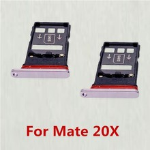 50pcs/lot Micro Nano SIM Card Holder Tray Slot Holder For Huawei Mate 20 X 20X Mate20X(China)