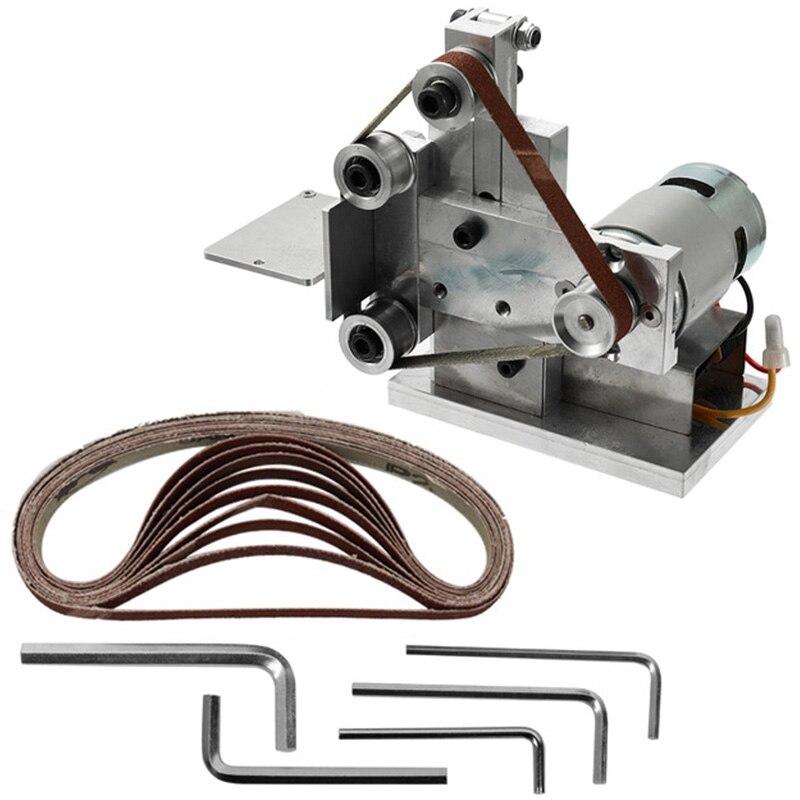 Meuleuse multifonctionnelle Mini ponceuse à bande électrique bricolage Machine de meulage de polissage coupe bords affûteuse meuleuse de ceinture ponçage