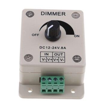 LED Switch Dimmer Adjust Brightness PWM Controller For Led Strip Office/Boat/Yacht/RV/Camper/Motorhome Strip Light 8A DC 12V