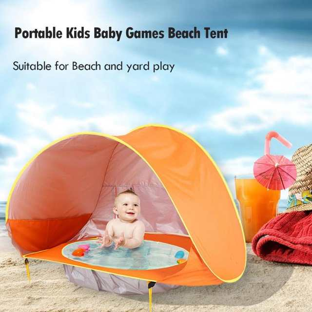 new concept 4e4e0 32556 US $6.78 30% OFF|Baby Beach Tent Uv protecting Sunshelter Children Toys  Small House Waterproof Pop Up Awning Tent Portable Ball Pool Kids Tents-in  Toy ...