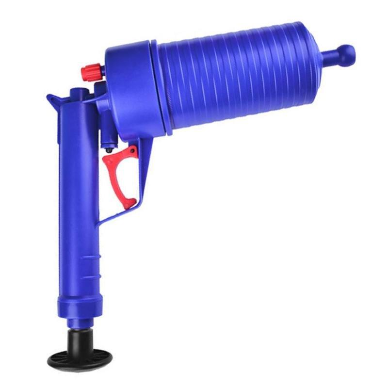 Air Power Drain Blaster Gun High Pressure Powerful Manual Sink Plunger Opener Cleaner Pump For Toilets Showers For Bathroom