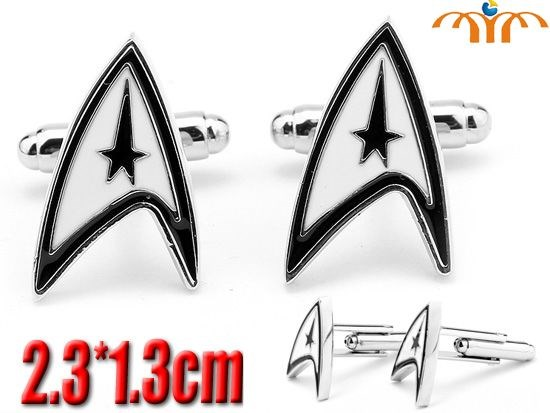 Giancomics 2019 New Simple Style Hot Movie Series Star Trek Cufflinks Mens Shirt Cuff Button for Men Cuff Link Gemelos Accessory