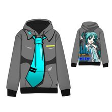 Hot  Anime Hatsune Miku Cosplay Hoodies Standard Hooded Winter Tops Unisex miku funny Sweatshirts