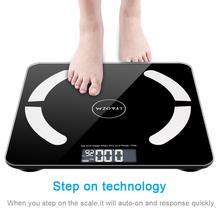 цена на 180kg Bluetooth Smart Digital Weighing Scale Bathroom Glass Electronic Scales LCD Display Body Digital Weight Scale With APP US