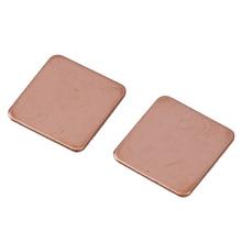 2 x 0.8mm Thick Heatsink Thermal Pad Copper Shim for Laptop CPU GPU