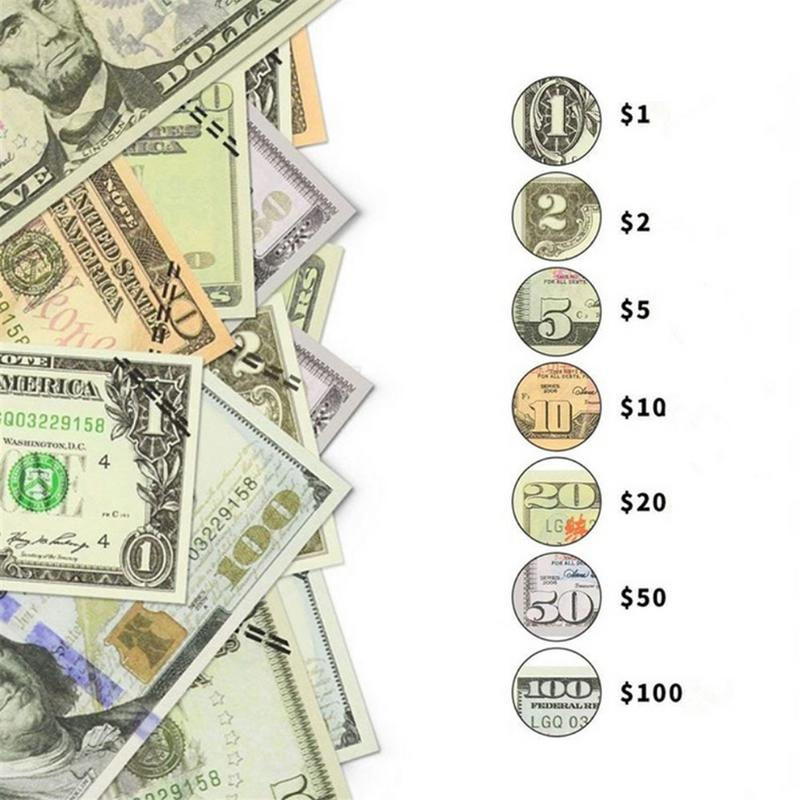 Prop That Looks Real Dollar Copy Money Full Print 2 Sided For Movies, Birthday Party,game Brain Game Kids Education Tool