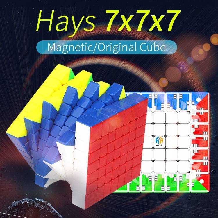 Yuxin Hays 7x7x7 Magnetic Cube Magic Speed 7x7 Cube Oringal Cube Professional Magnets Puzzle Cubo Magico