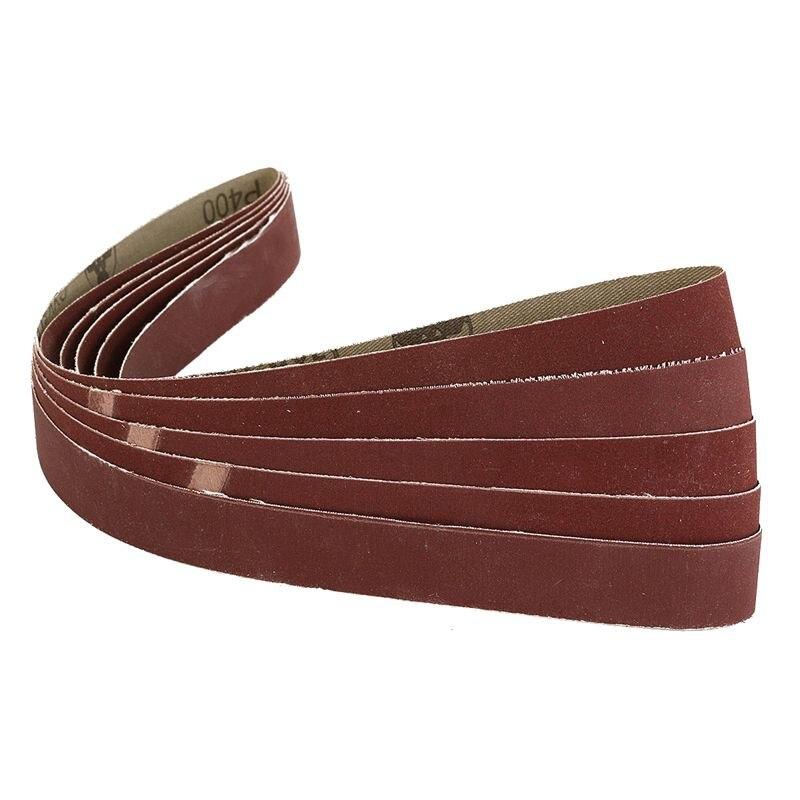 5 Pack 1 Inch X30 Inch Inch 25x762mm 400 Grit Sanding Belts AL Oxide For Metal Working