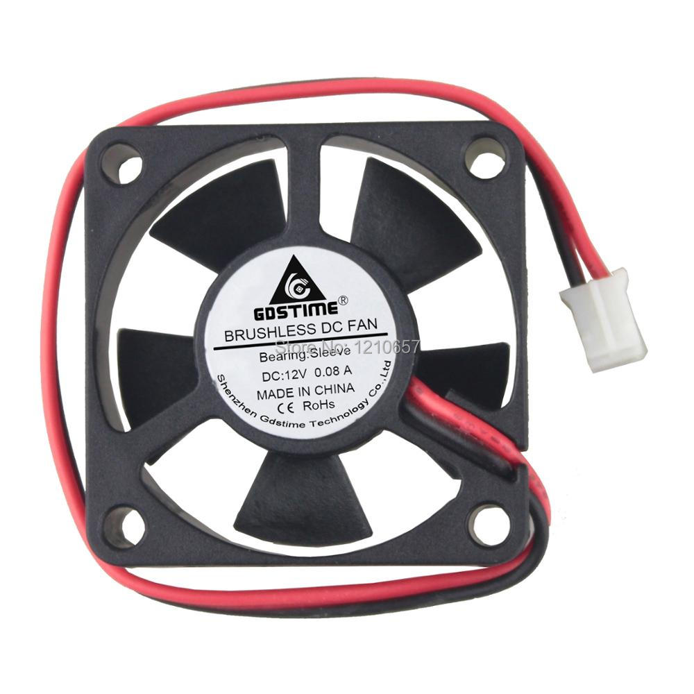 <font><b>200</b></font> Pieces LOT Gdstime 35mm 35 x 35 x 10MM 2Pin 12 Volt Mini Radiator DC Cooler Cooling <font><b>Fan</b></font> image