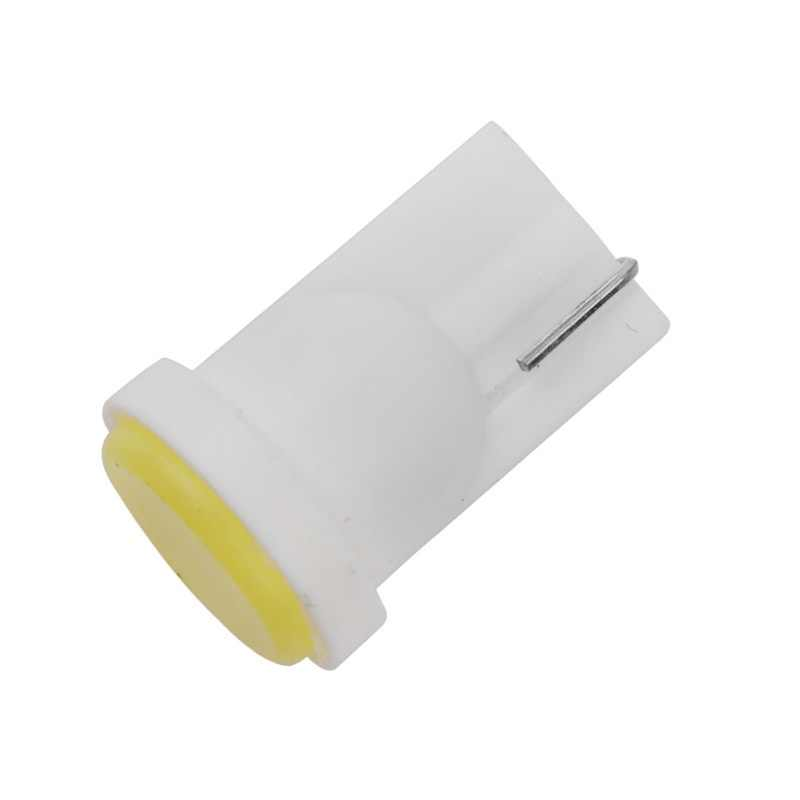 10X Ceramic Car Interior LED T10 COB W5W Wedge Door Instrument Side Bulb Lamp Car White Source 12V white red yellow blue for car