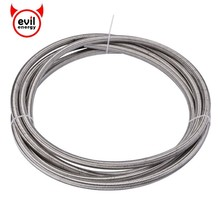 evil energy 3M AN3 AN4 AN6 AN8 AN10 PTFE Stainless Steel Braided PTFE Brake Hose Line Racing Fuel Oil Line Oil Cooler Hose 1m 3m stainless steel braided brake gas oil fuel line hose an4 an6 an8 an10 new