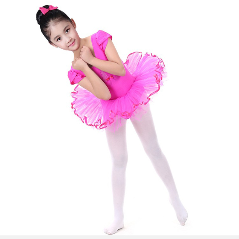 SONGYUEXIA Children Ballet tutu Skirt GirL Short Sleeve Ballet/Latin danncewear Skirt Dance tutu skirt 5colors 100-150cm