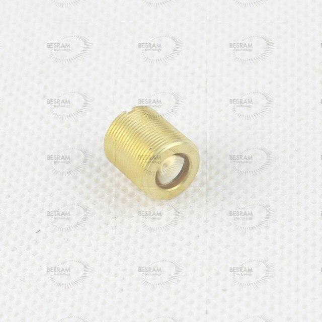 G7 אספריים זכוכית עדשת D = 7mm FL = 8mm עבור RGB לייזר 400nm 700nm עם M9 * 0.5 מסגרת