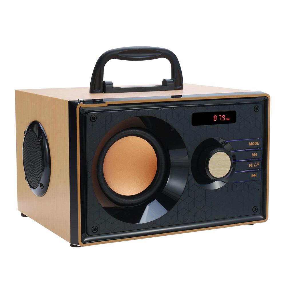 Retro Bluetooth Music Speaker Subwoofer Mini Speaker Heavy Bass FM AM SW Radio