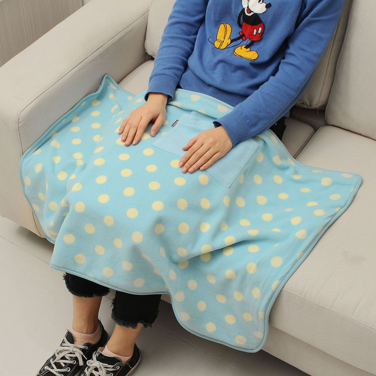 90x62cm USB Electric Heating Blanket Heated Shawl 5V Winter Portable Blanket for Office Home Mobile Heating Shawl(China)