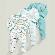 Spring autumn models ice blue squirrel pattern cotton baby