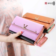 Anti-Theft Card Wallet Summer Buckle Clutch Bag Multi-Card Long Paragraph