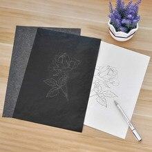 100 pièces/ensemble noir A4 copie papier carbone peinture calque papier Graphite peinture réutilisable peinture accessoires lisible traçage #16