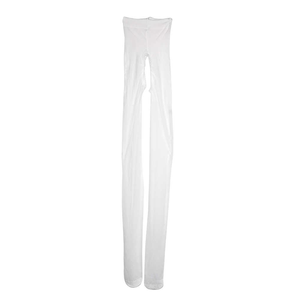 Ikoky Wanita Terbuka Selangkangan Stocking Seksi Kostum Crotchless Celana Ketat Eksotis Pakaian Seks Pakaian Dalam Wanita Pantyhose Dewasa