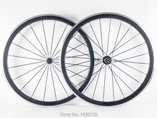 Purchase 1pair New 700C 38mm clincher rim Road bike carbon bicycle wheelsets with alloy brake surface +hubs+aero spokes+skewers Free ship deliver