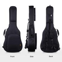 IRIN 39/40/41 Inch Acoustic Classical Guitar Bag Case Backpack Adjustable Shoulder Strap Portable Thicken Padded Black