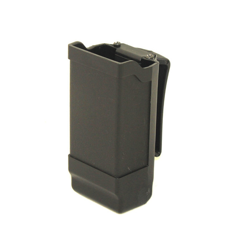 CQC Tactical Single Pistol Magazine Pouch Clip For 9mm To .45 Caliber GLOCK M9 P226 HK USP Airsoft Hunting Accessories