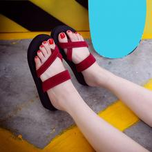 2019 New Fashion Women Casual Summer Sandal Slippers Anti-skid Beach Outdoor Ope