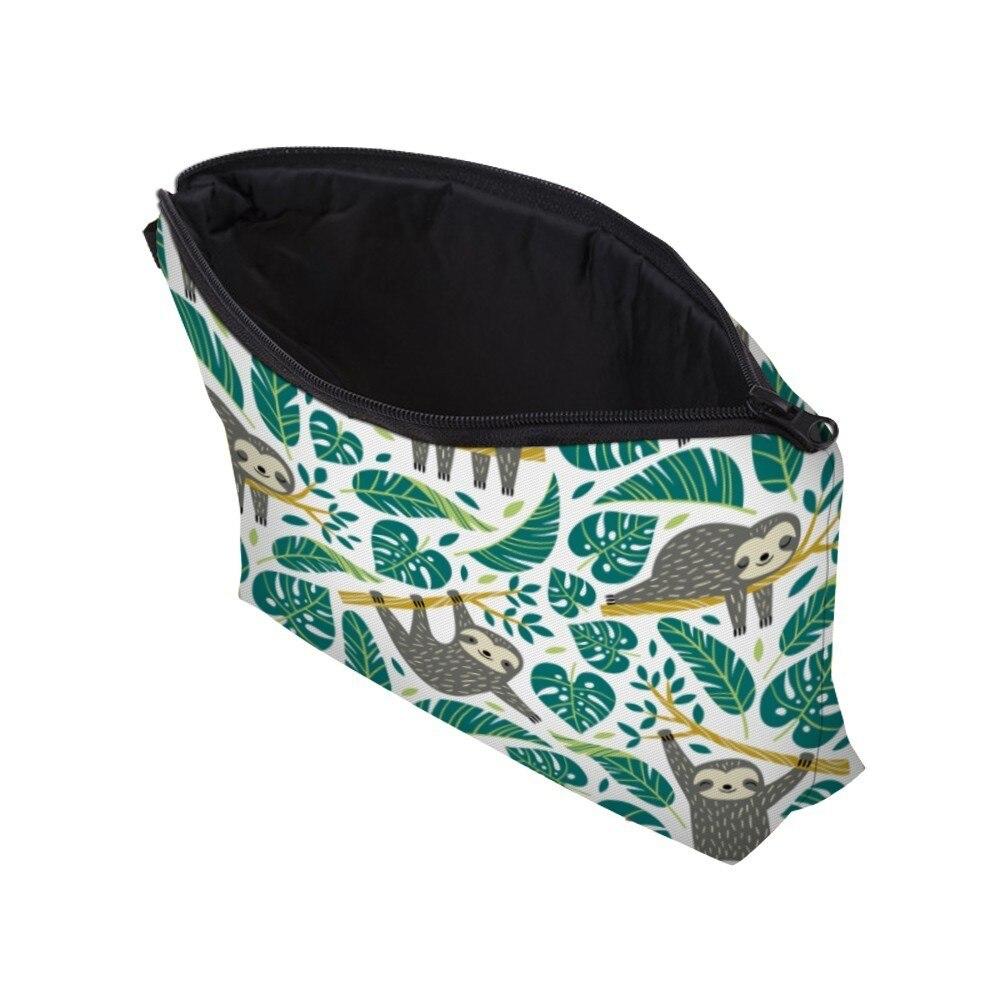 Deanfun Sloth Cosmetic Bag Waterproof Printing Swanky Turtle Leaf Toilet Bag Custom Style for Travel  51476 2