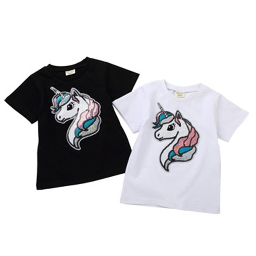 6b8c107e93b86 Fastest shipping sequin tshirt girl in Hairs Style 2019