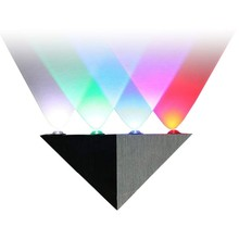 Indoor 5W Colour LED Lighting Lamp Triangle Aluminum Wall Sconce White/Green/Blue/Red/Warm White AC90-260V Modern