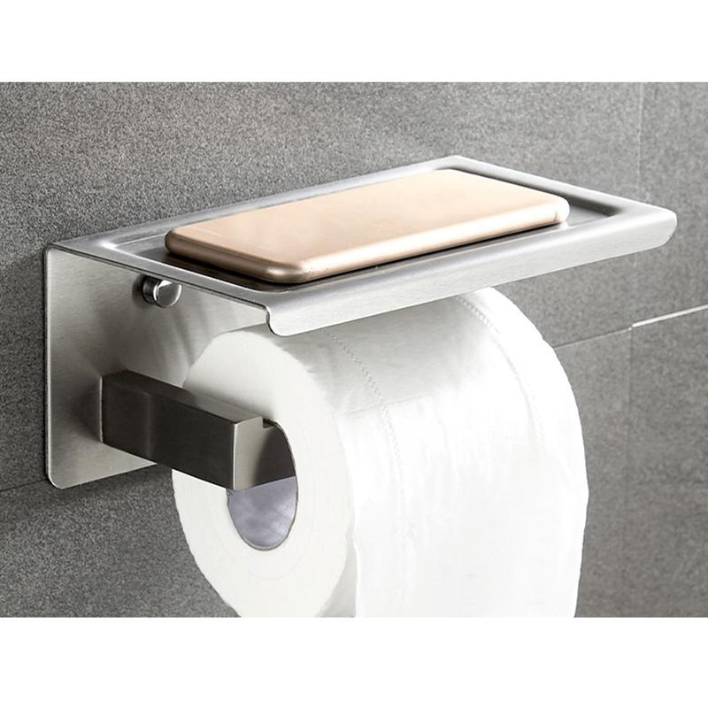 Back To Search Resultshome Improvement Paper Holders Nice Toilet Paper Holder Kitchen Bathroom 3m Stick Suction Cup Toilet Paper Holder Papel Higienico Stainless Steel Polished Finished Lustrous
