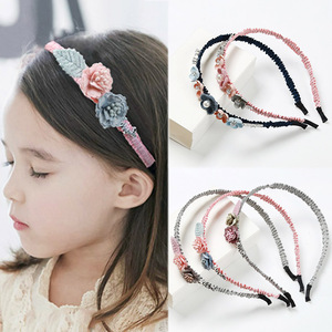 Hair Accessories For Girls Flower Headband Rhinestone 1PC Popular Women High Quality Korean Handmade Hot Sale Hairbands