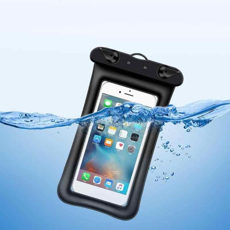 屋外防水タッチスクリーン携帯電話ケースバッグクリア PVC 密封された水中スマートフォン水泳ポーチカバー
