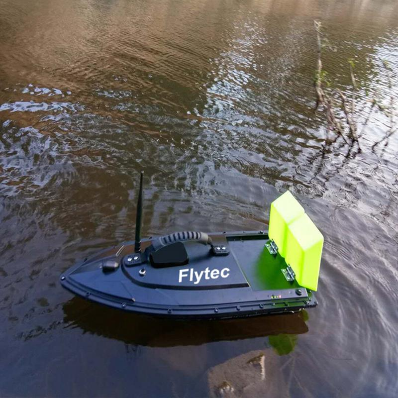 Flytec 2011-5 RC Bait Boat Toys Fishing Tool Smart Fishing Bait RC Boat Kit Version Remote Control Water Toys Boat Black /Green 3