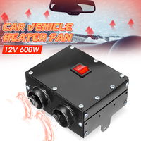 2 Air Outlet 2 Cooling Fan 80C 12V 600w Hole Car Heater Tungsten HeaterUsed for Defrost Demist Deicing Instant Heating