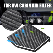 Baru 1 PC 28*21*6 Cm Filter Udara Kabin 1K0 819 644 OEM Air Cleaner Filter untuk Beetle Audi A3 TT(China)