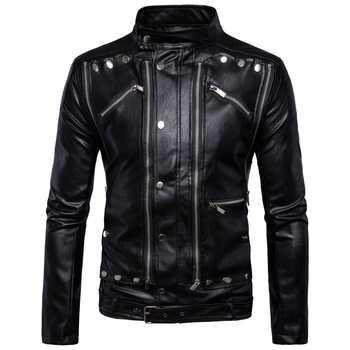 Plus Size Autumn Men'S Pu Leather Jacket Fashion Male Faux Leather Jacket Casaco Masculino Casual Coat Male Clothing 5xl 4xl