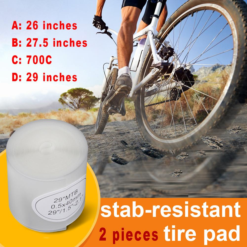2pcs/pack Bicycle Tire Liner Puncture Proof Belt Protection Pad For 700C 26