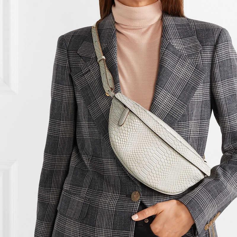 Brief Designer Fashion Women Waist Pack Snake Pattern PU Leather Casual Belt Bags Ladies Luxury Women's Chest Packs Waist Bag