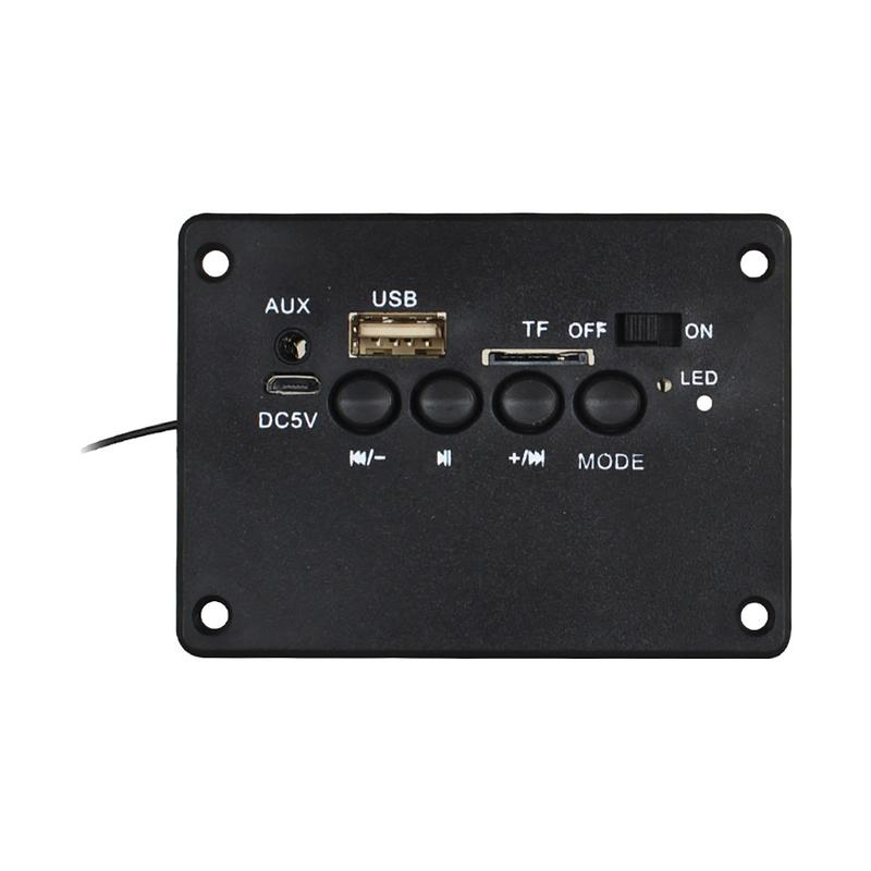 Bluetooth 5 Volt Power Amplifier Rechargeable Battery LCD Controller Board For High Power Ultra-Bass Audio Circuit Board Loudsp