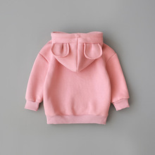 Новая весенне-осенняя одежда для маленьких мальчиков и девочек, хлопковый свитер с капюшоном, детская повседневная спортивная одежда, Одежда для младенцев
