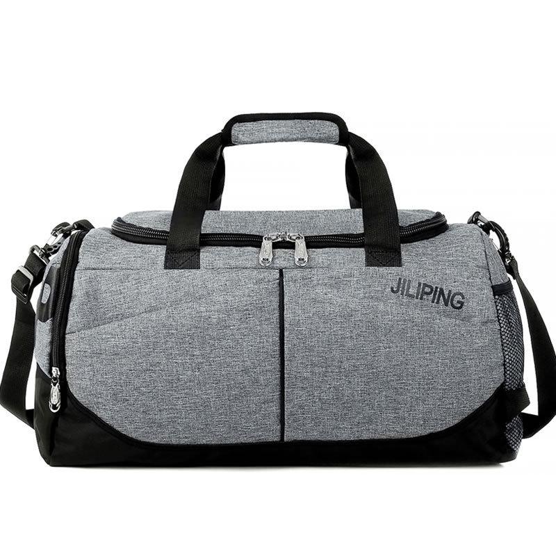 Fashion Simple Mens Outdoor Sport Gym Bags Fitness Women Training Waterproof Single Shoulder Bag Storage Travel Bag