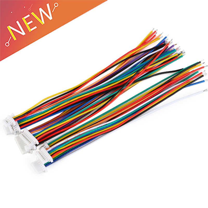 5 Pcs SH 1.0 חוט כבל מחבר DIY SH1.0 JST 2/3/4/5/6/ 7/8/9/10 פין אלקטרוני קו אחת להתחבר מסוף תקע 28AWG 10 cm
