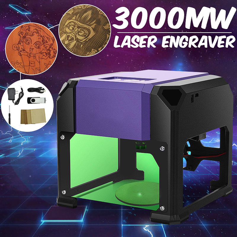 3000mW Mini USB CNC Laser Carving Machine 110V 220V Desktop Engraver Machine DIY Logo Mark Printer Wood Router/Cutter/Printer3000mW Mini USB CNC Laser Carving Machine 110V 220V Desktop Engraver Machine DIY Logo Mark Printer Wood Router/Cutter/Printer