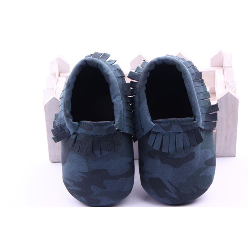 2019 New Arrivals A Pair Of Camouflage Soft Sole PU Baby Shoes Infant Kids Little Boy Walking Shoes Baby Moccasins 0-18 Months