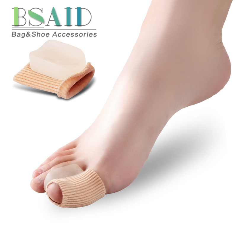 BSAID Silicone Foot Toe Pads Pedicure, Elastic Cuff Corrector Toe Separator, Orthopedics Stretchers Insert